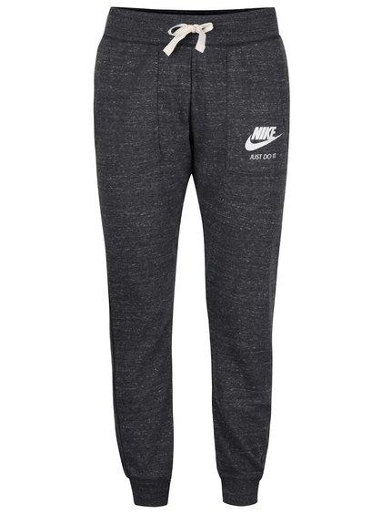 Pantaloni gri Nike Gym Vintage cu manșete elastice