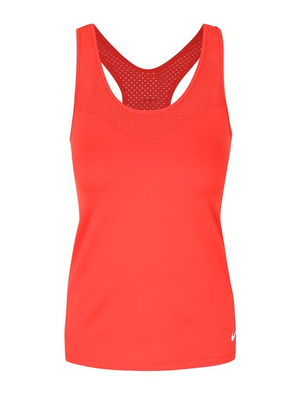 Top roșu Nike Pro Hypercool cu plasă