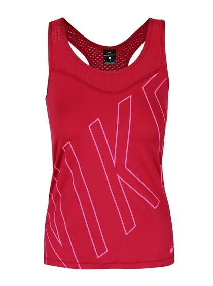 Malinové dámské tílko s logem Nike