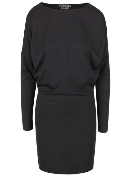 Čierne šaty s prestrihom na chrbte Vero Moda Kelly
