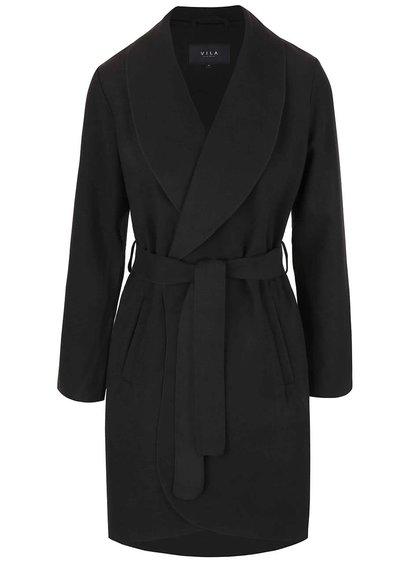 Černý kabát VILA Ida