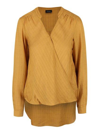 Bluză asimetrică VILA Ramina cu decolteu în V suprapus