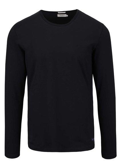 Černé pánské triko s dlouhým rukávem Pepe Jeans Original basic L/S