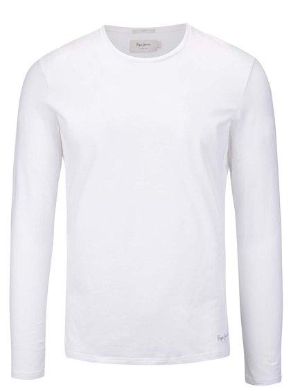 Bílé pánské triko s dlouhým rukávem Pepe Jeans Original basic L/S