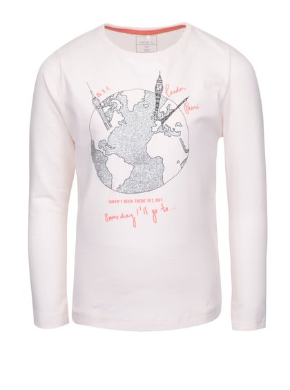 Svetloružové dievčenské tričko s dlhým rukávom name it Kavi