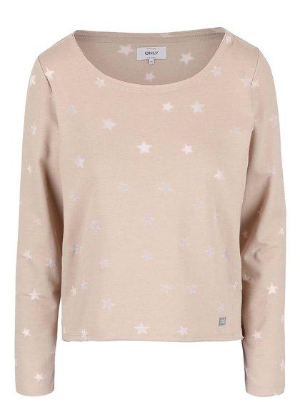 Bluză cu steluțe ONLY Christina bej