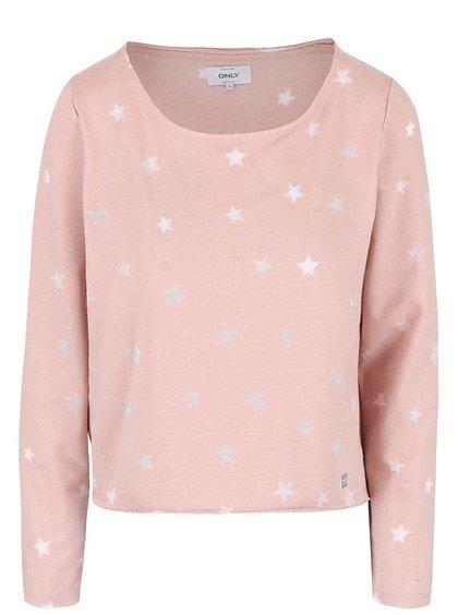 Bluză cu steluțe ONLY Christina roz