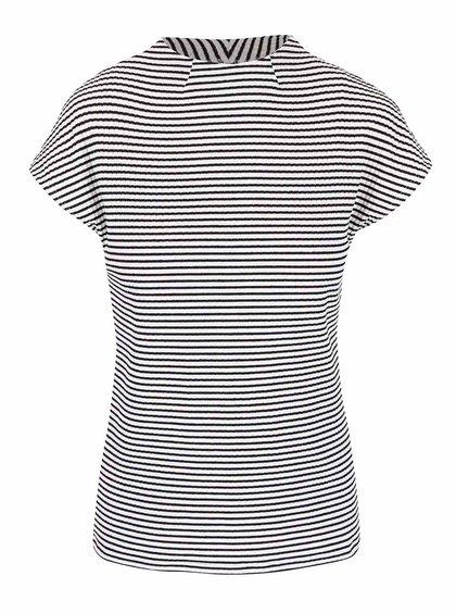 Čierno-krémové pruhované tričko so stojačikom ONLY figoro