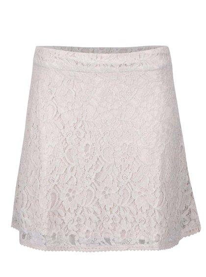 Krémová čipkovaná sukňa ONLY Lace