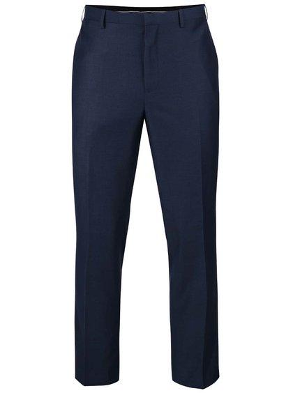 Modré slim fit formální kalhoty s puky Burton Menswear London