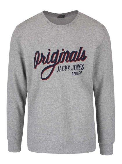 Bluză gri Jack & Jones Type cu logo print