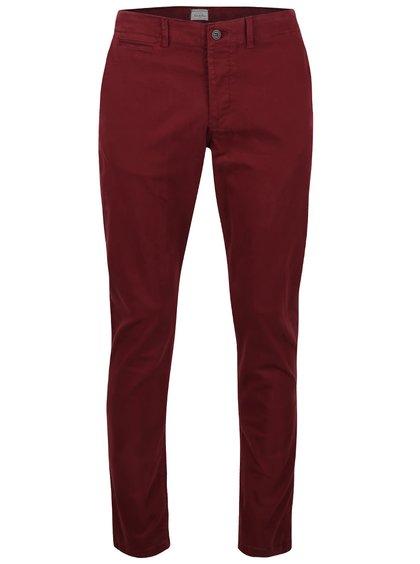 Pantaloni chino vișinii Jack & Jones Icody