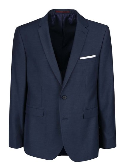 Tmavomodré oblekové slim fit sako Burton Menswear London