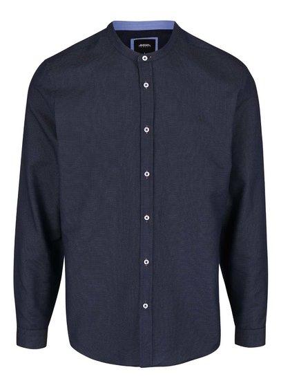 Cămașă bleumarin Burton Menswear London fără guler
