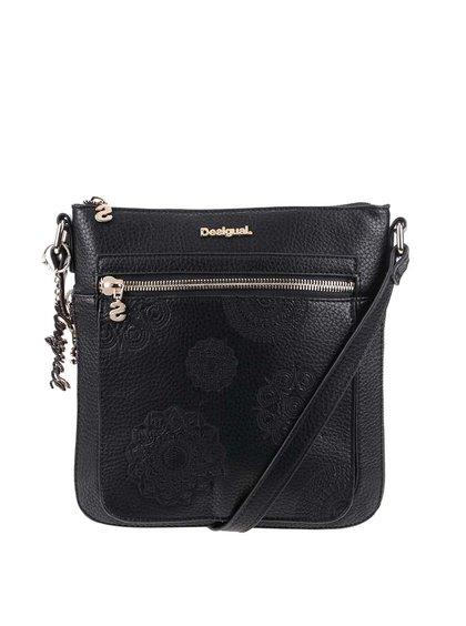 Čierna crossbody kabelka na zips Desigual Moscue