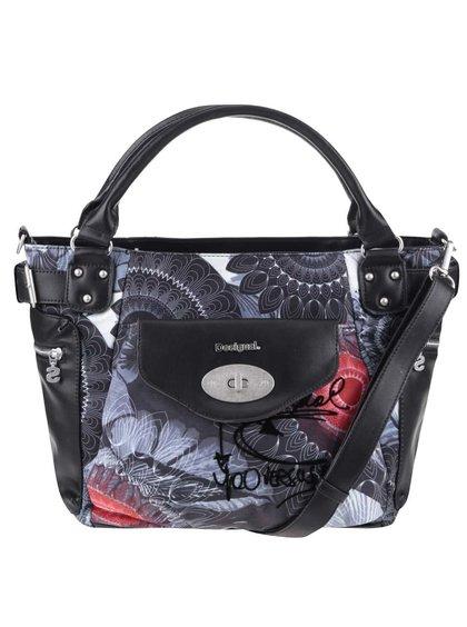 Čierna kabelka so sivými vzormi Desigual McBee Same