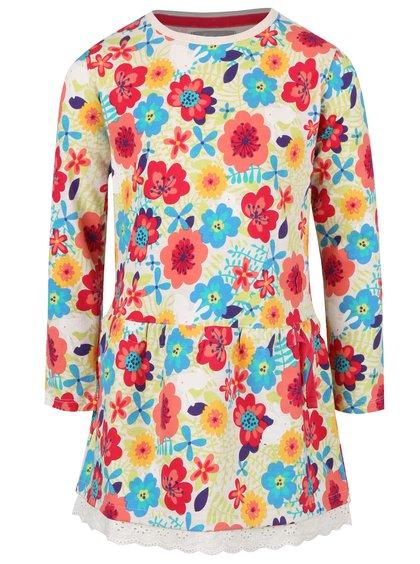 Rochie crem cu model floral Boboli pentru fete