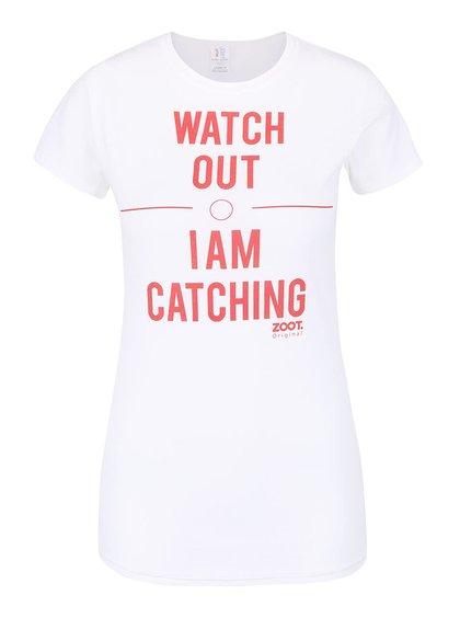 Tricou alb de damă ZOOT Original Watch Out