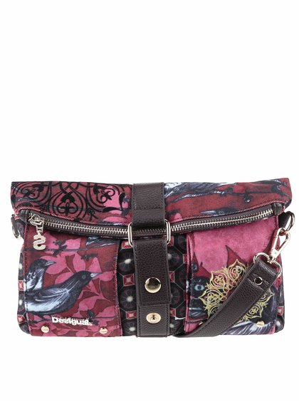 Geantă crossbody multicoloră Desigual Bird Land cu model