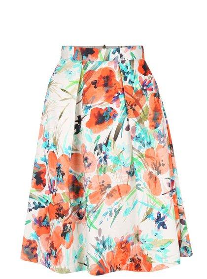 Krémová sukňa s vlčími makmi Closet