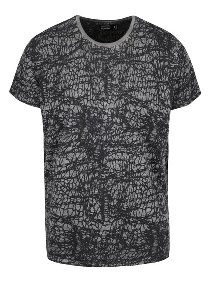Sivo-čierne vzorované tričko !Solid Elroy