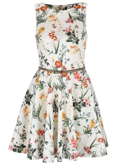 Rochie cu model floral Closet fără mâneci