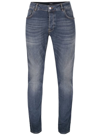 Tmavě modré vyšisované džíny !Solid Joy