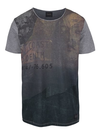 Sivé tričko !Solid Deniz