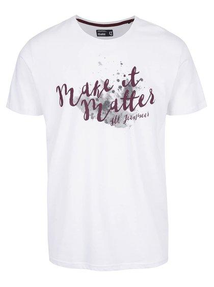 Biele tričko s potlačou !Solid Duha