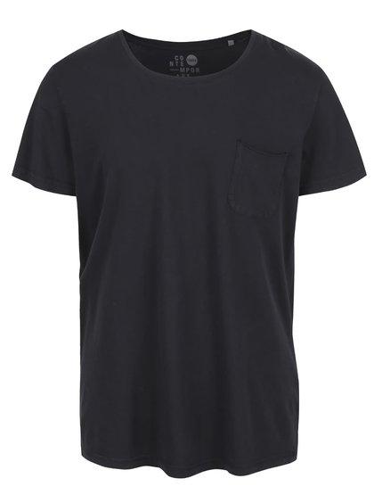 Čierne tričko s vreckom !Solid Sean