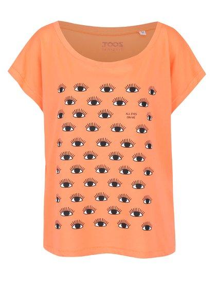 Korálové dámské volnější tričko ZOOT Originál All Eyes On Me