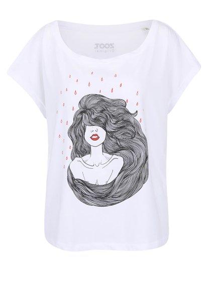 Biele dámske voľnejšie tričko ZOOT Originál Woman