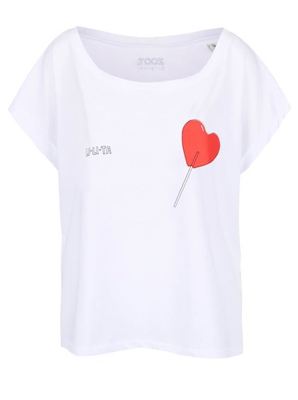 Biele dámske oversize tričko ZOOT Originál Lolita