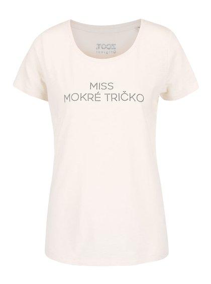Krémové dámske tričko ZOOT Originál Miss mokré tričko