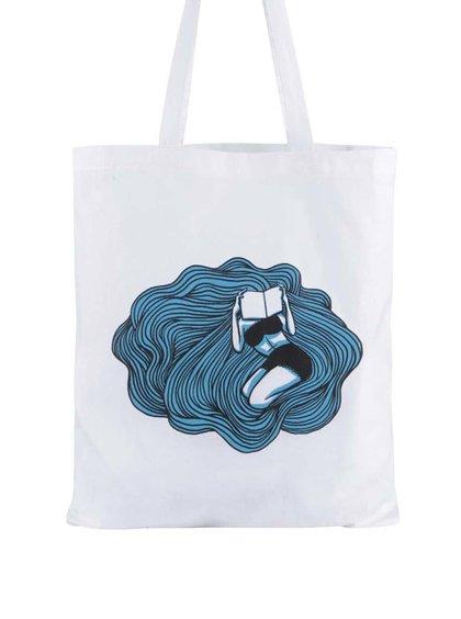 Biela plátenná taška ZOOT Originál Čtenářka