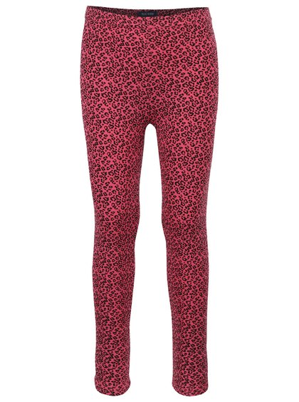 Ružové dievčenské legíny s leopardím vzorom Blue Seven