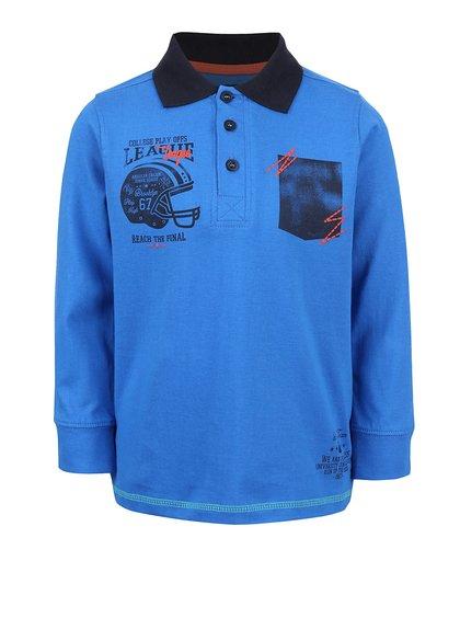 Modrá chlapčenská polokošeľa s dlhým rukávom Blue Seven