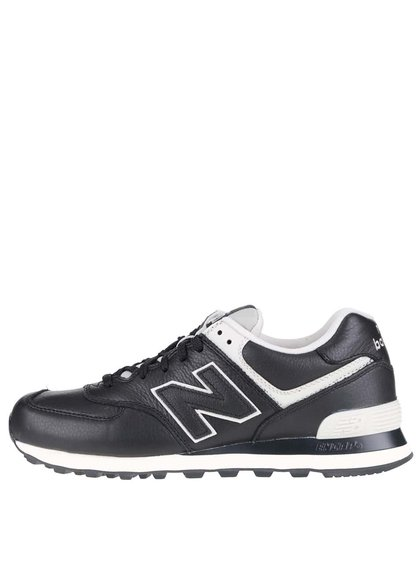 Krémovo-černé pánské kožené tenisky New Balance