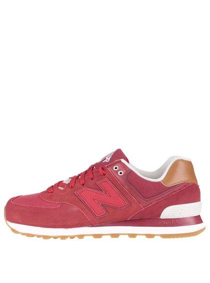 Červené pánske semišové tenisky New Balance