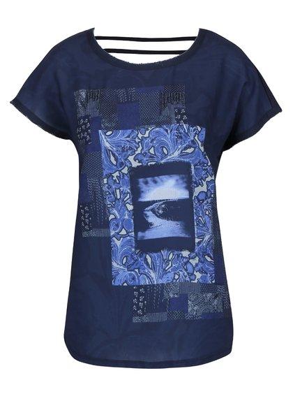Tricou albastru cu print VERO MODA Rosali