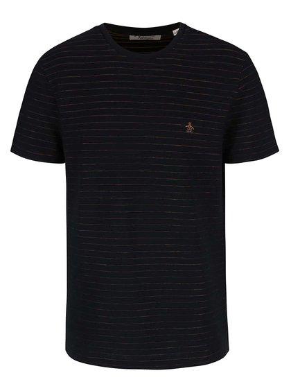 Černé triko s pruhy Original Penguin Jacquard