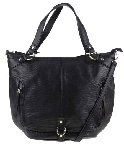 Černá kabelka s odnímatelným popruhem Pieces Pella
