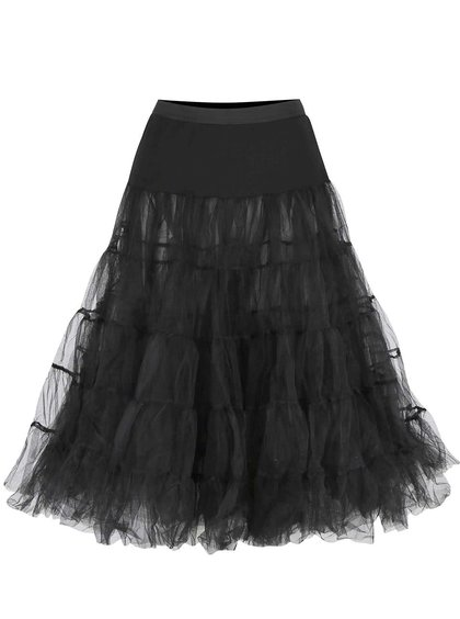 Fustă neagră Dolly & Dotty Petticoat cu volane