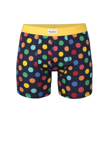 Tmavě modré boxerky Big Dot Happy Socks