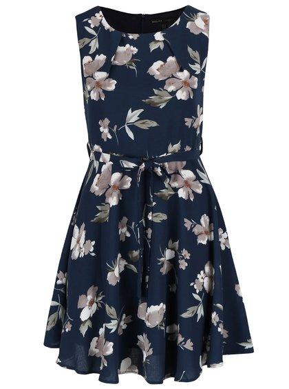 Rochie albastră Mela London cu imprimeu