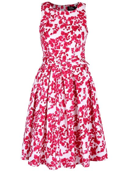 Růžovo-bílé květované šaty Dolly & Dotty Annie
