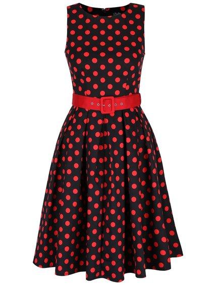 Čierne bodkované šaty Dolly & Dotty Annie