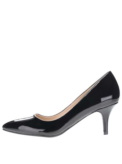 Pantofi negri lăcuiți Dorothy Perkins cu toc mic