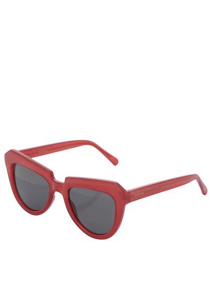 Červené dámske slnečné okuliare Komono Stella