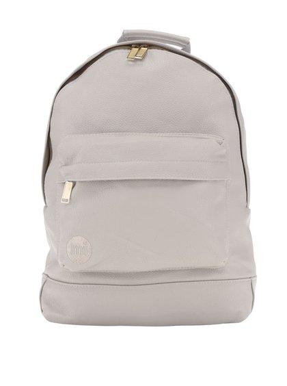 Světle šedý unisex koženkový batoh se zipem ve zlaté barvě Mi-Pac Tumbled
